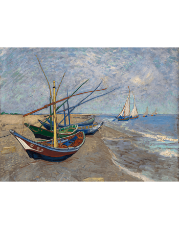 Reprodukcje obrazów Vincent van Gogh Fishing Boats on the Beach at Les Saintes-Maries-de la Mer