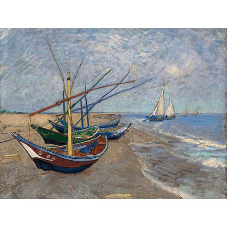 Reprodukcje obrazów Vincent van Gogh Fishing Boats on the Beach at Les Saintes-Maries-de la Mer