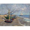 Reprodukcje obrazów Fishing Boats on the Beach at Les Saintes-Maries-de la Mer - Vincent van Gogh