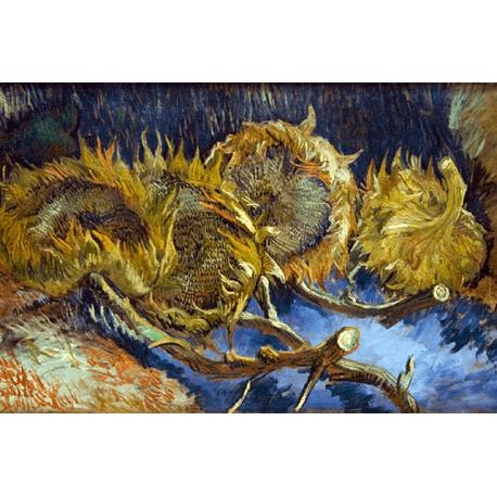 Reprodukcje obrazów Vincent van Gogh Four overblown sunflowers