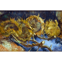 Reprodukcje obrazów Four overblown sunflowers - Vincent van Gogh