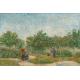 Reprodukcje obrazów Vincent van Gogh Garden with Courting Couples- Square Saint-Pierre