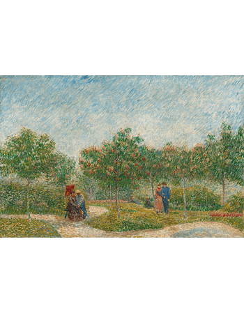 Reprodukcje obrazów Vincent van Gogh Garden with Courting Couples- Square Saint-Pierre