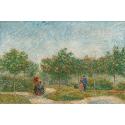 Reprodukcje obrazów Garden with Courting Couples- Square Saint-Pierre - Vincent van Gogh