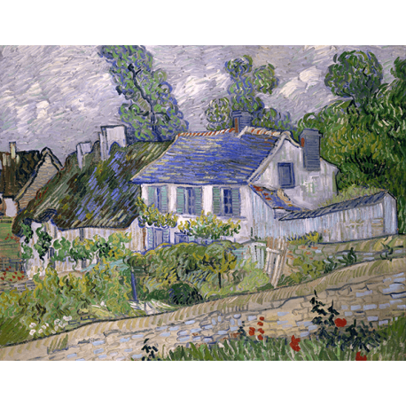 Reprodukcje obrazów Vincent van Gogh Houses at Auvers