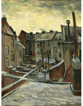Reprodukcje obrazów Houses Seen from the Back - Vincent van Gogh