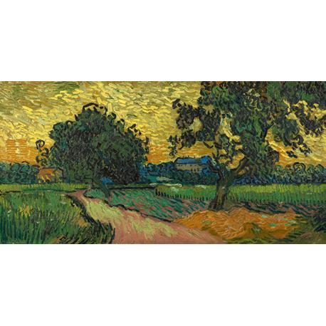 Reprodukcje obrazów Vincent van Gogh Landscape at Twilight