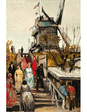 Reprodukcje obrazów Le Moulin de blute fin - Vincent van Gogh