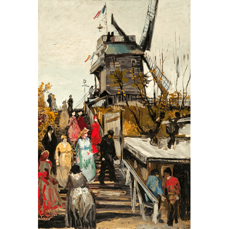 Reprodukcje obrazów Vincent van Gogh Le Moulin de blute fin