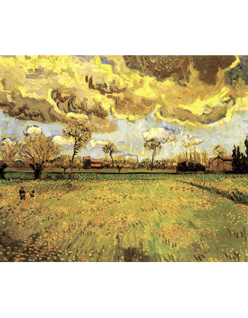 Paintings Landscape Under a Stormy Sky