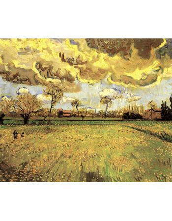 Reprodukcje obrazów Paintings Landscape Under a Stormy Sky - Vincent van Gogh