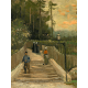 Reprodukcje obrazów Vincent van Gogh Path in Montmartre