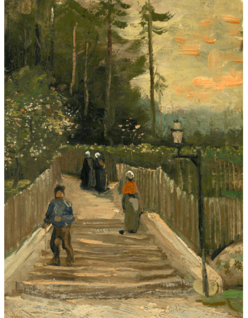 Reprodukcje obrazów Path in Montmartre - Vincent van Gogh