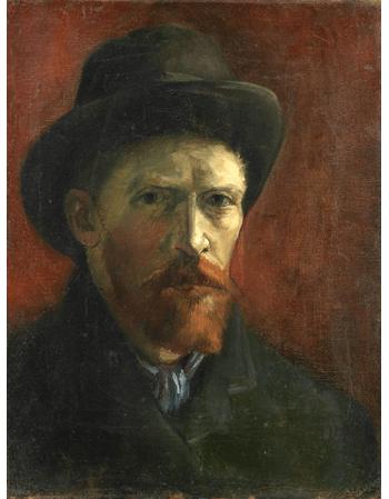 Reprodukcje obrazów Vincent van Gogh Self-Portrait with Felt Hat
