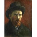 Reprodukcje obrazów Self-Portrait with Felt Hat - Vincent van Gogh