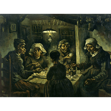 Reprodukcje obrazów Vincent van Gogh Van willem vincent gogh the potato eaters