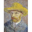 Reprodukcje obrazów Self Portrait with Straw Hat - Vincent van Gogh