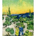 Reprodukcje obrazów Walk in the moonlight - Vincent van Gogh
