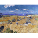 Reprodukcje obrazów Wheat Fields with Reaper, Auvers - Vincent van Gogh
