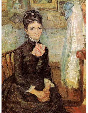 Reprodukcje obrazów Woman sitting by a cradle - Vincent van Gogh