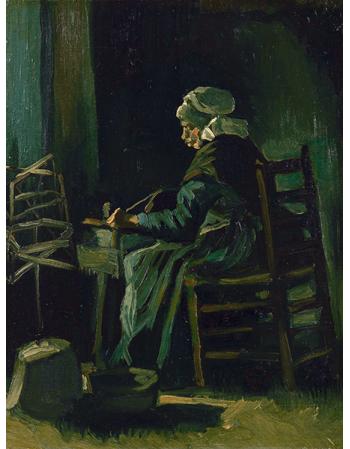 Reprodukcje obrazów Vincent van Gogh Woman Winding Yarn