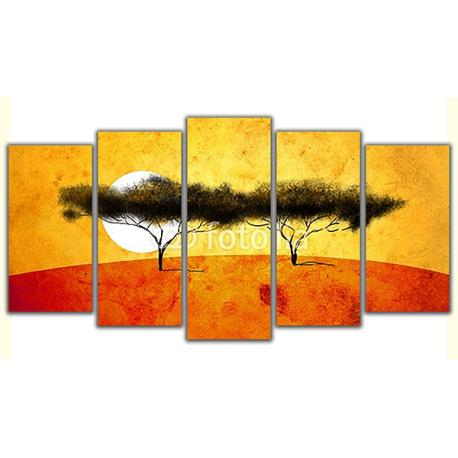 Obraz na płótnie poliptyk Afrykańskie drzewa