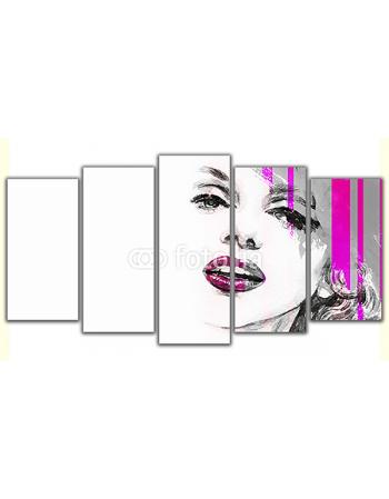 Obraz na płótnie poliptyk Kobieca twarz