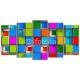 Obraz na płótnie poliptyk Kolorowe kwadraty