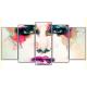 Obraz na płótnie poliptyk Abstrakcyjna twarz kobiety