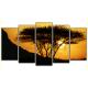 Obraz na płótnie poliptyk Afrykańskie drzewo