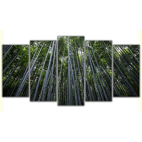 Obraz na płótnie poliptyk Bambusowe drzewa
