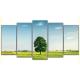 Obraz na płótnie poliptyk Drzewo na polanie