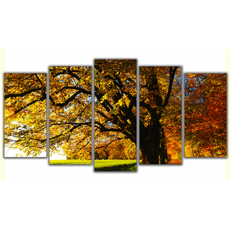 Obraz na płótnie poliptyk Jesień w parku