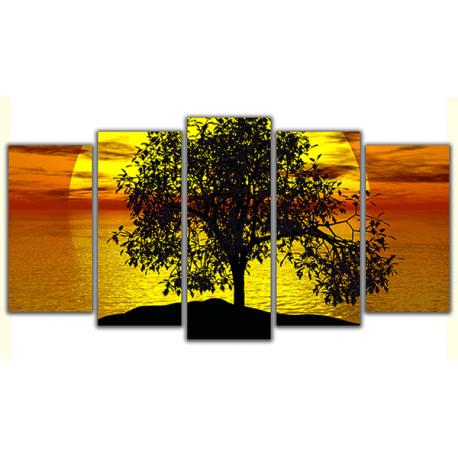 Obraz na płótnie poliptyk Zachód słońca