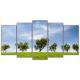Obraz na płótnie poliptyk Zielone drzewa