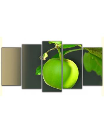 Obraz na płótnie poliptyk Zielone jabłko
