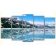 Obraz na płótnie poliptyk Górskie jezioro