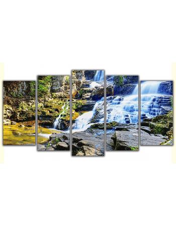 Obraz na płótnie poliptyk Górski wodospad