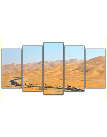 Obraz na płótnie poliptyk Kręta pustynna droga