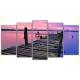 Obraz na płótnie poliptyk Pomost - fioletowe niebo
