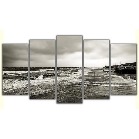 Obraz na płótnie poliptyk Wzburzone morze