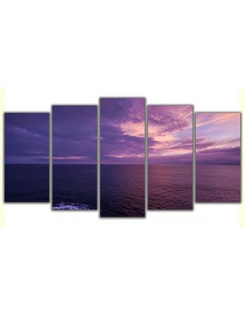 Obraz na płótnie poliptyk Zachód słońca nad morzem