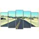 Obraz na płótnie poliptyk Pustynna droga