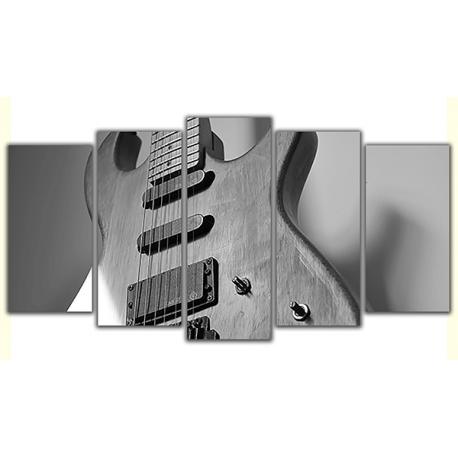 Obraz na płótnie poliptyk Drewniana gitara