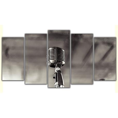 Obraz na płótnie poliptyk Profesjonalny mikrofon