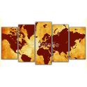 Pomarańczowa mapa świata