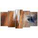 Obraz na płótnie poliptyk Brązowy koń