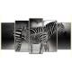 Obraz na płótnie poliptyk Piękne zebry