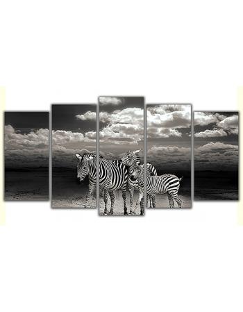 Obraz na płótnie poliptyk Zebry z klasą