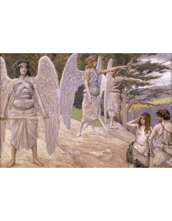 Reprodukcje obrazów James Tissot Adam and Eve Driven From Paradise